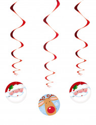 3 Decorações para pendurar Pai Natal e Rena