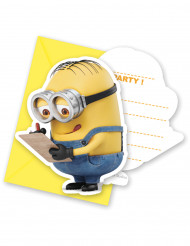 6 Convites com envelopes Lovely Minions™