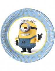8 Pratos de cartão Lovely Minions™ 19 cm
