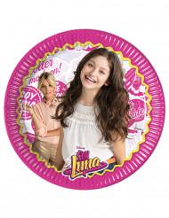 8 Pratos de cartão Soy Luna™