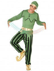 Disfarce elfo verde homem Natal