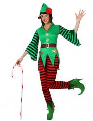 Disfarce elfo mulher Natal