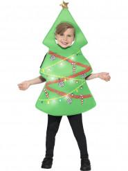 Disfarce Pinheiro luminoso criança Natal