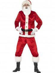 Disfarce Pai Natal com barriga grande e chip de som adulto