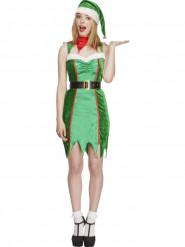 Disfarce elfo com chocalhos sexy mulher Natal