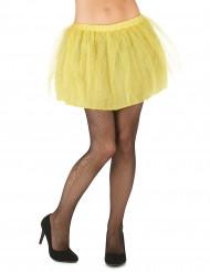 Tutu amarelo com saiote opaco mulher