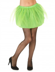 Tutu verde com saiote opaco mulher