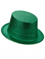 Chapéu alto de plástico verde brilhante adulto