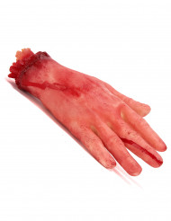 Mão cortada ensanguentada