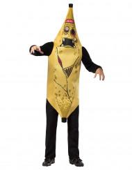 Disfarce banana zumbi adulto Halloween
