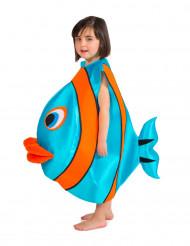 Disfarce Peixe azul para criança