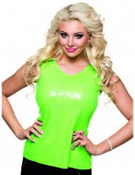 Top com lantejoulas verdes fluo mulher