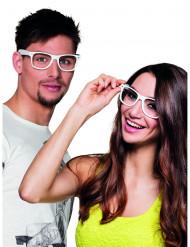 4 Óculos brancos adulto