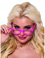 4 Óculos cor-de-rosa fluo adulto