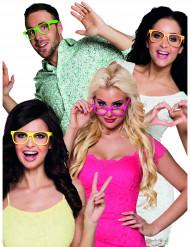 4 Óculos fluo adulto