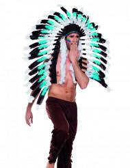 Chapéu chefe índio azul adulto