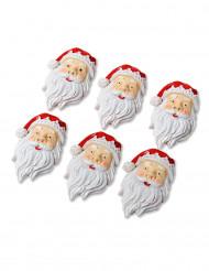 6 Pai Natal adesivos
