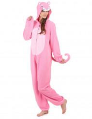 Combinação com capuz pantera cor-de-rosa mulher