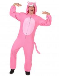Combinação com capuz pantera cor-de-rosa homem
