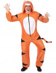 Combinação com capuz tigre homem