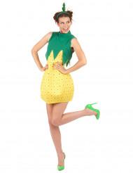 Disfarce ananás mulher