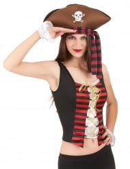 Corpete e manguitos pirata mulher