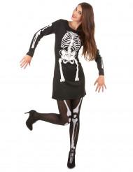 Disfarce esqueleto Halloween mulher