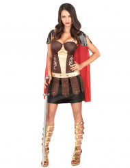 Disfarce de gladiadora romana adulto