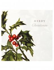 20 Guardanapos de papel Merry Christmas