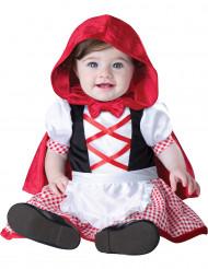 Disfarce mini capuchinho vermelho para bebé - Clássico
