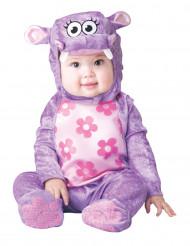 Disfarce hipopótamo lilás para bebé - Clássico