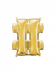 Balão alumínio símbolo # dourado