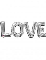 Balão alumínio Love prateado