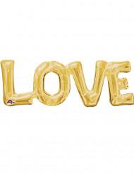 Balão alumínio Love dourado