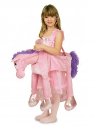 Disfarce cavalo cor-de-rosa menina