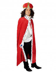 Capa vermelha Rei adulto
