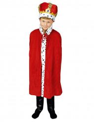 Capa vermelha Rei criança