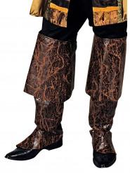 Cobre botas castanhos pirata homem