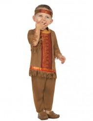 Disfarce índio com franjas bebé