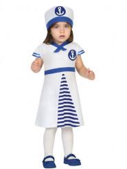 Disfarce vestido de marinheiro bebé