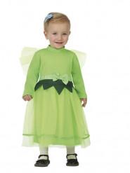 Disfarce pequena fada verde bebé