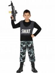 Disfarce SWAT militar menino