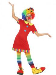 Disfarce vestido Palhaço vermelho menina