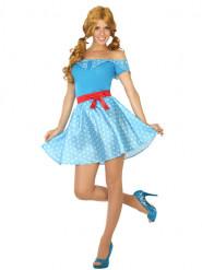 Disfarce vestido anos 50 azul
