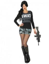 Disfarce SWAT militar mulher