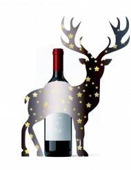 Decoração para garrafa cervo Natal