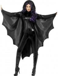 Capa preta morcego mulher
