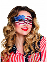 Mascarilha com brilhantes USA mulher