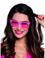 Óculos cor-de-rosa fluo anos 80