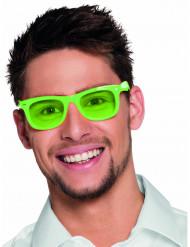 Óculos verdes fluo anos 80